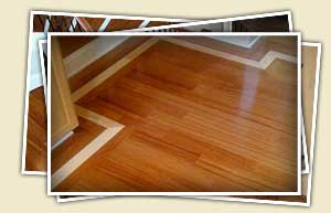 collage of exotic hardwood flooring