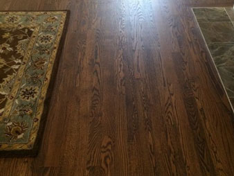 photo of a newly stained floor by GreenStepFlooring
